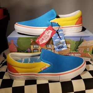 Vans x The Simpsons Bart Slip-On Pro Blue & Yellow